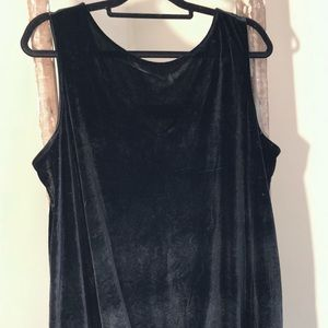 EUC Black Velvet Swing Dress - The Limited